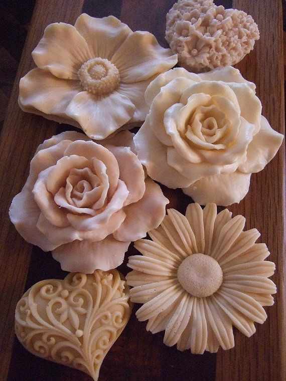 rose and flower soap molds